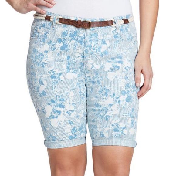 80385b2b59 Gloria Vanderbilt Shorts | Plus Size Joslyn Belted Bermuda | Poshmark